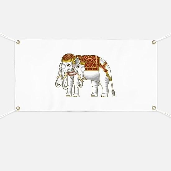 Thai Erawan White Elephant Banner