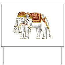 Thai Erawan White Elephant Yard Sign