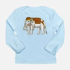 Thai Erawan White Elephant Long Sleeve Infant T-Sh
