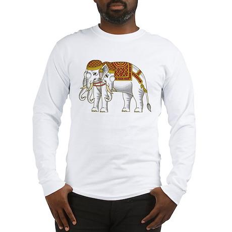 Thai Erawan White Elephant Long Sleeve T-Shirt