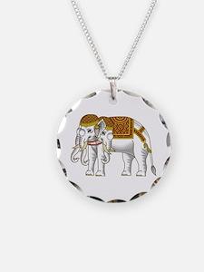 Thai Erawan White Elephant Necklace