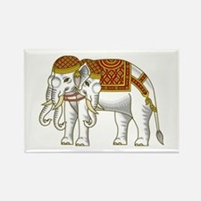Thai Erawan White Elephant Rectangle Magnet