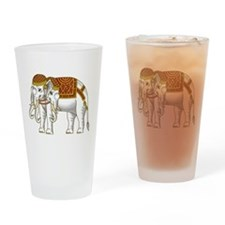 Thai Erawan White Elephant Drinking Glass
