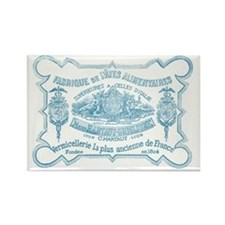 French Label Rectangle Magnet