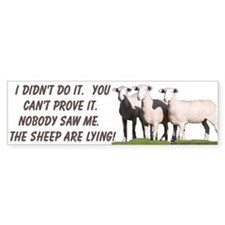 """Lying Sheep"" Bumper Bumper Sticker"