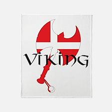 Denmark Viking Axe Throw Blanket