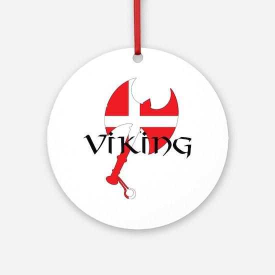 Denmark Viking Axe Ornament (Round)