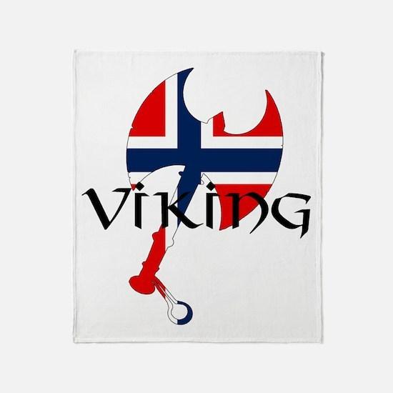 Norway Viking Throw Blanket