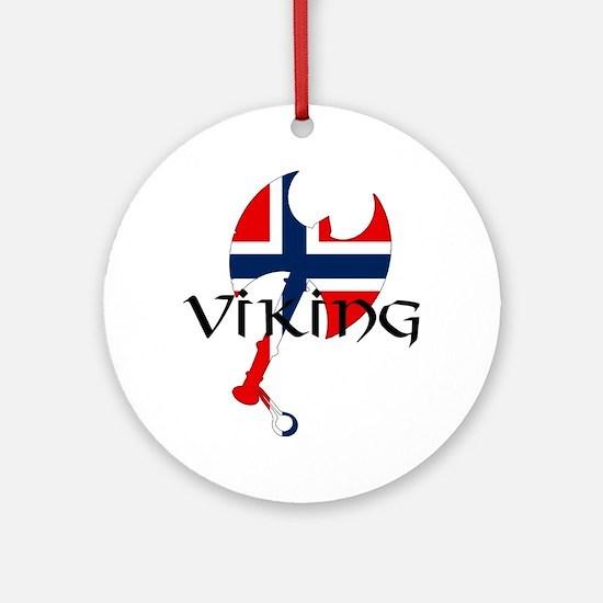 Norway Viking Ornament (Round)