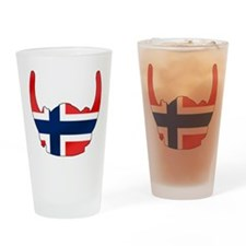 Norway Viking Helmet Drinking Glass