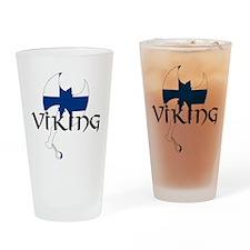 Finnish Viking Axe Drinking Glass