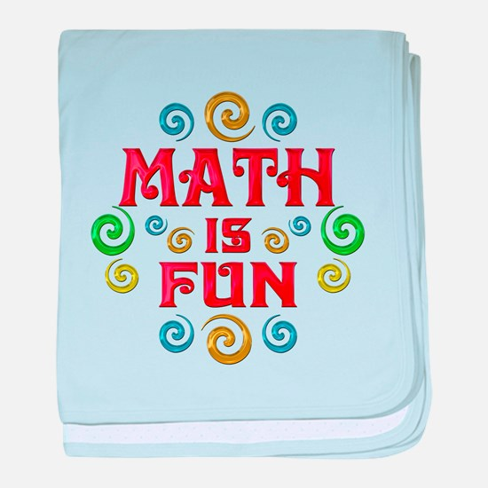 Math is Fun baby blanket