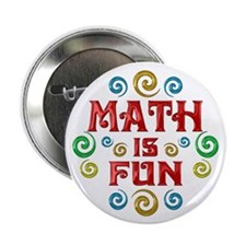 "Math is Fun 2.25"" Button (100 pack)"