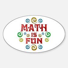 Math is Fun Sticker (Oval)