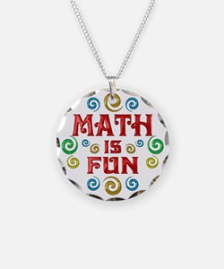 Math is Fun Necklace Circle Charm