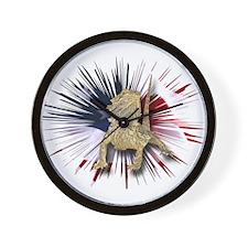 Bearded Dragon USA Wall Clock