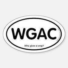 WGAC Oval Decal
