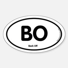BO Oval Decal