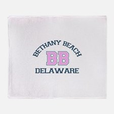 Bethany Beach - Varsity Design Throw Blanket