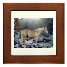 Unique Palomino quarter horse Framed Tile