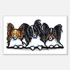 Papillon Lover Sticker (Rectangle)