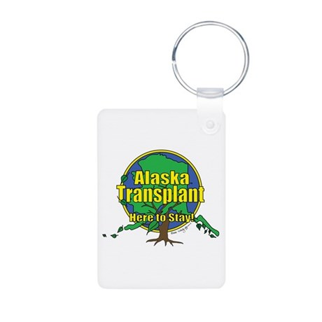 Alaska Transplant Aluminum Photo Keychain