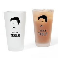 Nikola Tesla Silhouette Pint Glass