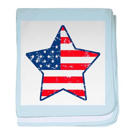 Patriotic Star baby blanket