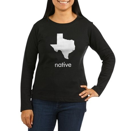 Texas Native Women's Long Sleeve Dark T-Shirt