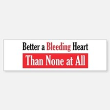 Bleeding Heart Bumper Bumper Bumper Sticker