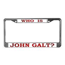 John Galt License Plate Frame