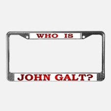 John Galt License Plate Frame
