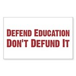Defend Education Rectangle Sticker