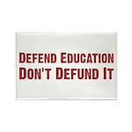 Defend Education Rectangle Magnet (100 pack)