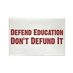 Defend Education Rectangle Magnet (10 pack)
