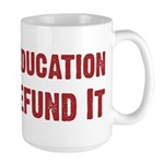 Defend Education Large Mug