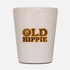 Old Hippie Peace Shot Glass