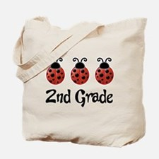 2nd Grade School Ladybug Tote Bag