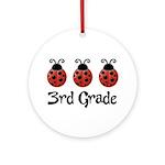 3rd Grade School Ladybug Ornament (Round)