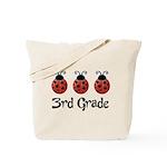 3rd Grade School Ladybug Tote Bag