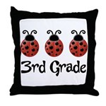 3rd Grade School Ladybug Throw Pillow