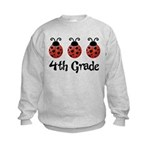4th Grade School Ladybug Kids Sweatshirt