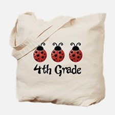 4th Grade School Ladybug Tote Bag