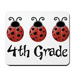 4th Grade School Ladybug Mousepad