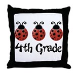 4th Grade School Ladybug Throw Pillow