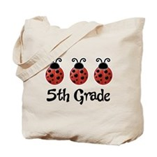 5th Grade School Ladybug Tote Bag