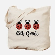 6th Grade School Ladybug Tote Bag