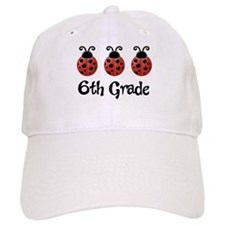 6th Grade School Ladybug Baseball Cap