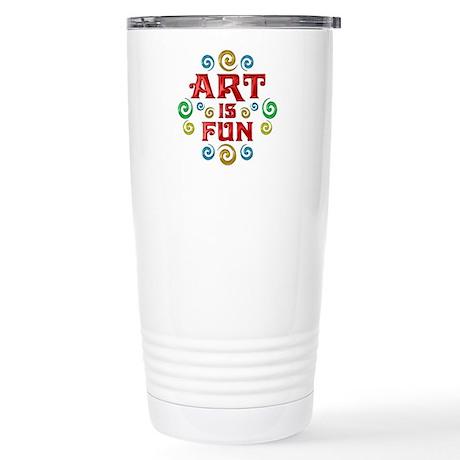 Art is Fun Stainless Steel Travel Mug