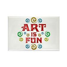 Art is Fun Rectangle Magnet